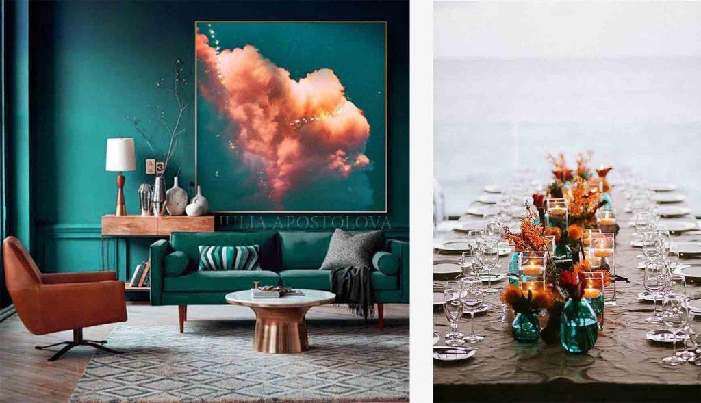 Inspiración orange teal en Pinterest
